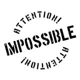 Impossible rubber stamp Stock Image