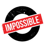 Impossible rubber stamp Stock Photo