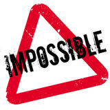 Impossible rubber stamp Royalty Free Stock Photos