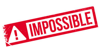 Impossible rubber stamp Stock Images