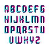 Impossible shape font. Alphabet illustration royalty free illustration