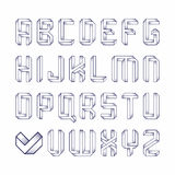 Impossible shape font Royalty Free Stock Images