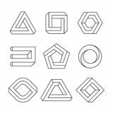 Impossible shapes vector illustration
