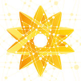 Impossible star 3D for Your project royalty free illustration