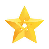 Impossible star 3D for Your project. Icon or logo Stock Photos