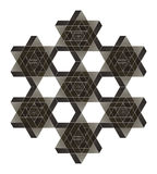 Impossible star of David. Vector Stock Image