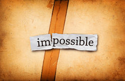 Impossible title on old paper Royalty Free Stock Photos