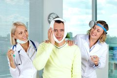 Impossible toothache Stock Image