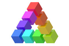 Impossible triangle optical illusion Royalty Free Stock Photography