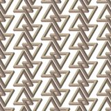 Impossible triangle seamless pattern Royalty Free Stock Images