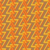 Impossible triangle seamless pattern Royalty Free Stock Photos