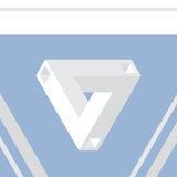 Impossible triangle vector illustration Royalty Free Stock Photo