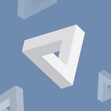 Impossible triangle vector illustration Stock Images