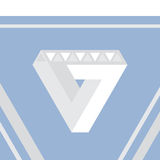 Impossible triangle vector illustration Royalty Free Stock Photography