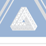 Impossible triangle vector illustration Royalty Free Stock Photos