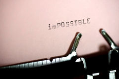 ImPossible Typing Stock Image