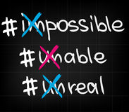 Impossible unable unreal Stock Image