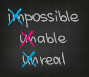 Impossible unable unreal Stock Photos