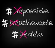 Impossible unachievable unable Stock Photos