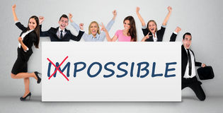 Impossible word on banner Stock Photography