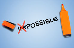 Impossible word Stock Images