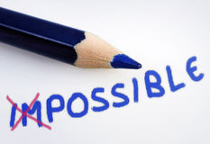 Impossible word royalty free stock photography