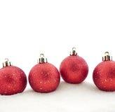 Imposta le decorazioni dell'Natale-albero Fotografia Stock