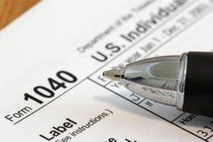 Imposta sul reddito Immagini Stock