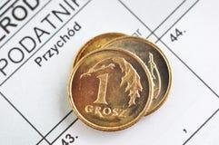 Imposta sul reddito polacca Fotografia Stock