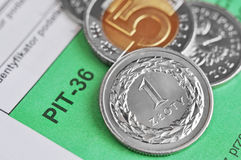 Imposta sul reddito polacca Fotografie Stock