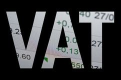Imposta sul valore aggiunto Fotografia Stock