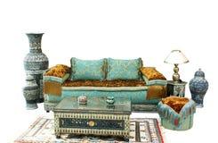 Impostazione araba tipica del salotto di stile Immagini Stock Libere da Diritti