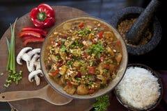 Impostazione del curry Fotografia Stock