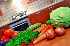 Impostazione della cucina Fotografie Stock Libere da Diritti