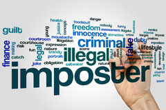 Imposter word cloud Royalty Free Stock Image