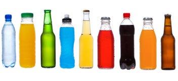 Imposti con differenti bottiglie Fotografie Stock Libere da Diritti