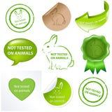 Imposti contro le prove ad animali Fotografia Stock