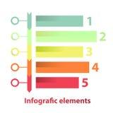 Imposti gli elementi del infographics Immagini Stock Libere da Diritti