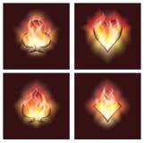 Imposti gli elementi della mazza in fuoco, Immagine Stock Libera da Diritti
