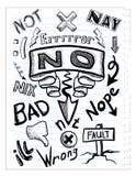 Imposti gli sketchs Fotografie Stock Libere da Diritti
