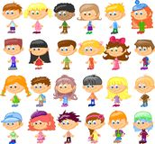 Imposti i bambini del fumetto Immagini Stock Libere da Diritti