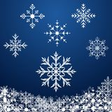 Imposti i fiocchi di neve Immagine Stock Libera da Diritti
