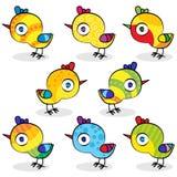 Imposti i polli di pasqua Fotografia Stock Libera da Diritti
