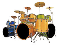 Imposti i tamburi Immagini Stock