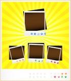 Imposti i vecchi photoframeworks del modello Fotografie Stock