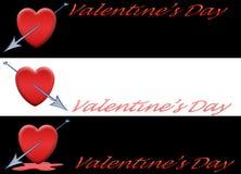 Imposti il biglietto di S. Valentino della bandiera [1] Fotografia Stock