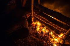 Imposti il fuoco fotografie stock
