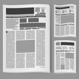 Imposti il giornale di numero due Fotografie Stock