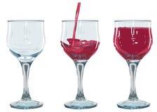 Imposti il vetro di vino rosso Fotografia Stock Libera da Diritti