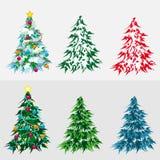 Imposti l'albero di Natale Immagine Stock